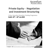 Negotiation and Investment Sturcturing - Zurich - July 2015