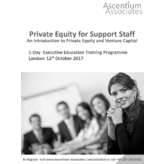 Private Equity for Support Staff - London - October 2017